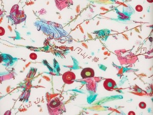 LIBERTY ART FABRIC S/S 100% COTTON LAWN DESERT ISLAND DELIVERY B