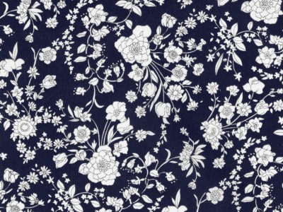 LIBERTY ART FABRIC S/S 100% COTTON LAWN SUMMER BLOOMS C