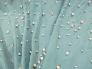 Chiffon Blue with Pearls