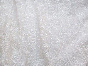 Embroidered Chiffon White
