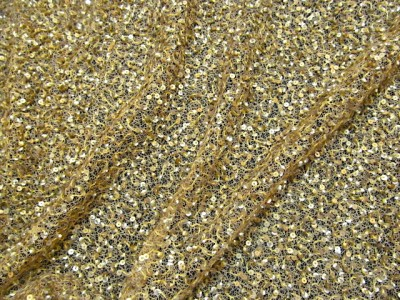 Sequin Work Fabric Spectra Yellow
