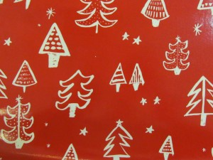 Oil Cloth Christmas Tree Red