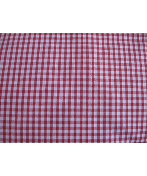 Polycotton Gingham Small Red