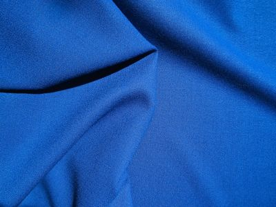 100% Wool Crepe Blue
