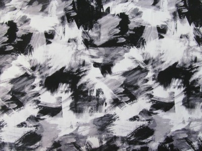 Cotton Stretch Black White Paint