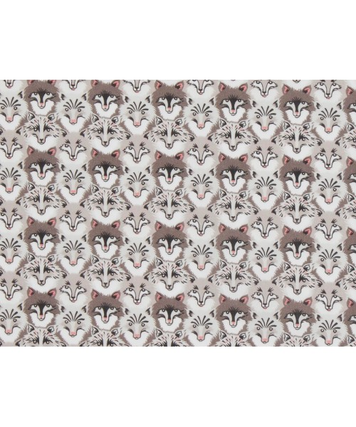 Liberty Art Fabric ss/18 100% Cotton Lawn Wolf Pack