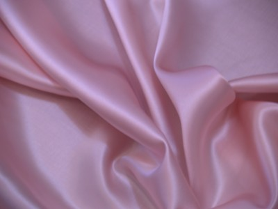 100% silk crepe backed satin strawberry