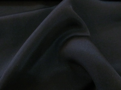 100% Silk Double Crepe Morocain Black 100% Silk Crepe