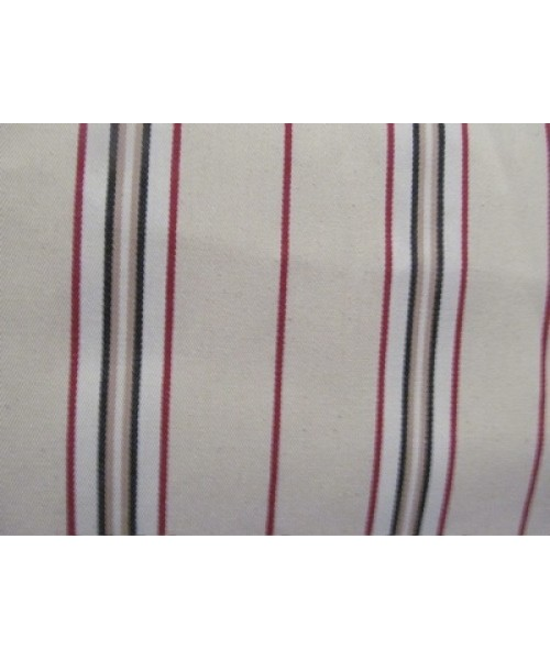 Household Cotton Traditional Ticking Red, Black and Beige
