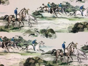 Mulberry Morning Gallop Velvet