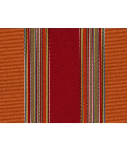 Outdoor Fabric Red Stripe