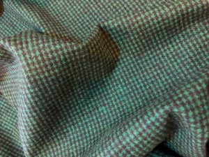 Wool Green Houndstooth