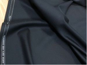 English Super 120's Wool and Cashmere Suiting Black