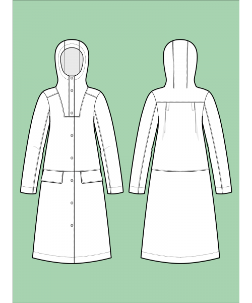 The Assembly Line HOODIE PARKA PATTERN