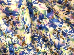 100% Cotton Blue Pink  Floral Florence