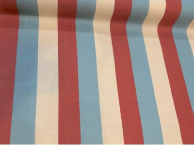 Outdoor Canvas Coral Blue Stripe