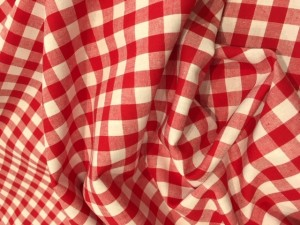 100% Brushed Cotton Gingham Red