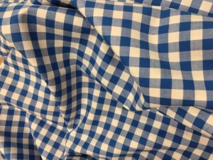 100% Cotton Yarn Dyed Gingham Blue