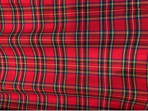 100% Cotton Royal Stewart Tartan  Red and Green