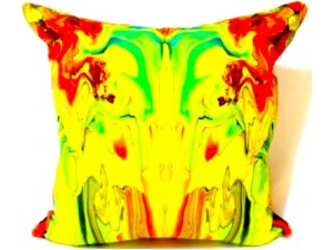 Timorous Beasties Marble Gum Velvet Cushion