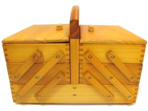 Wooden Sewing Box 3 Tier
