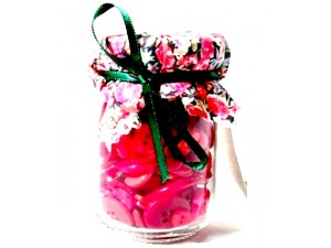 Liberty Print Assorted Red Button Jar Gifts