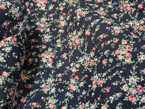 100% Cotton Lawn Navy Base Rose