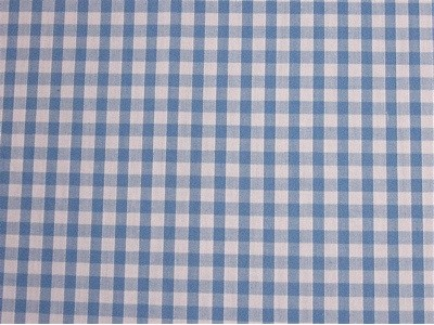 Polycotton Small Blue Gingham