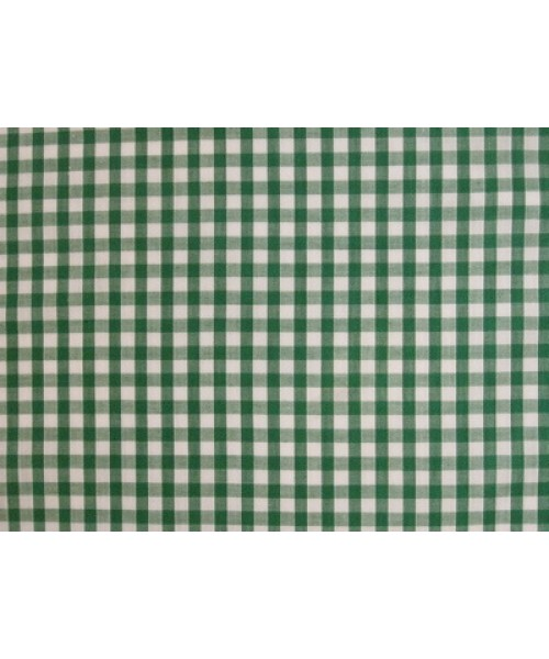 Polycotton Small Green Gingham