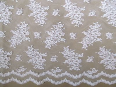Lace Alicia Ivory Wedding Cloth for Bridal Gowns