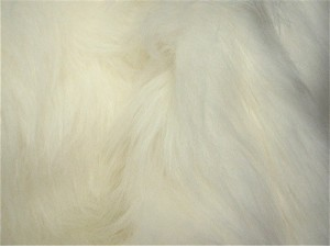 Fur Faux  white Long Haired
