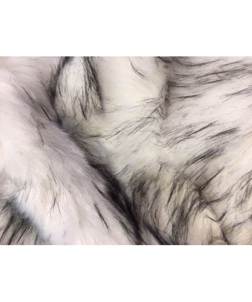 Luxury Faux Fur White and Black