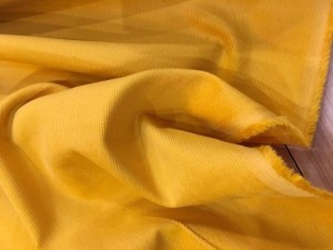 100% Cotton Corduroy Mustard Yellow