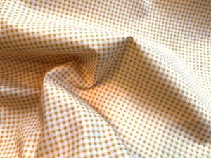 100% Cotton Print Yellow Check Gingham