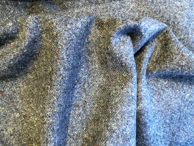 Irish 100% Wool Grey Blue