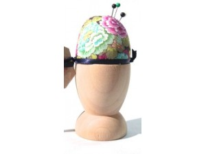 Liberty Print Egg Cup Pin Cushion