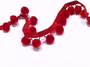Bobble Trim Red
