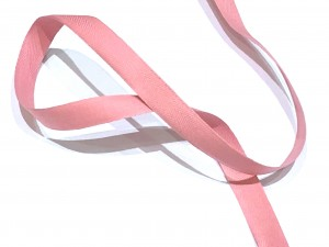 Cotton Herringbone Tape Pink 14mm