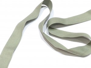 Cotton Herringbone Tape Grey 25mm