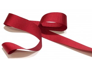 Grosgrain Ribbon 25mm Red