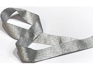 Ribbon Silver Glitter 25mm
