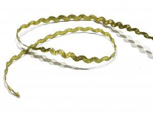 Ric Rac Gold Ribbon