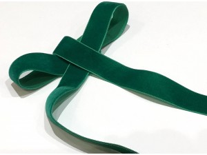 Velvet Ribbon Green 22mm