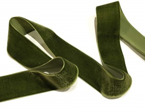 Velvet Ribbon Moss Green 38mm