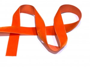 Velvet Ribbon Orange 22mm