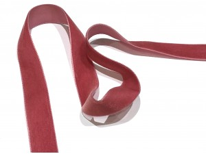 Velvet Ribbon Vintage Pink 22mm
