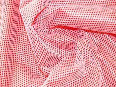 Waterproof Mesh Red Technical Sport Waterproof Fabric