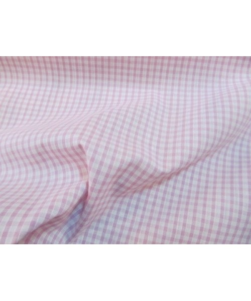 Polycotton Gingham Small Pink